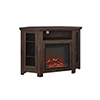 This item: 48-Inch Wood Corner Fireplace Media  TV Stand Console  - Traditional Brown