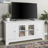 This item: 52-Inch Wood TV Media Stand Storage Console - White