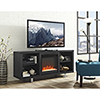 This item: 58-Inch Simple Modern Fireplace TV Console - Black