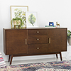 This item: 60-Inch Mid Century Modern Walnut Wood TV Stand