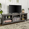 This item: 70-Inch Wood Media TV Stand Storage Console - Charcoal