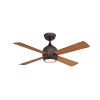 This item: Kwad Dark Bronze 44-Inch LED Ceiling Fan with Cherry Blades