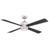 This item: Kwad Brushed Nickel 52-Inch LED Ceiling Fan with Black Blades