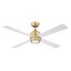This item: Kwad Brushed Satin Brass 52-Inch LED Ceiling Fan with Matte White Blades