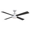 This item: Kwad Chrome 52-Inch LED Ceiling Fan with Black Blades