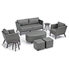 This item: Salino Nickel 8-Piece Chat Set with Coffee Table Pouf and Eiland Tables