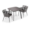 This item: Nette Carbon and Pewter Patio Dining Set, 3-Piece