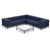 This item: Koral Carbon and Spectrum Indigo Patio Sectional Set and Table, 6-Piece