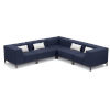 This item: Koral Carbon and Spectrum Indigo Patio Sectional Set with Cushion, 5-Piece