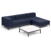This item: Koral Carbon and Spectrum Indigo Patio Sectional Set and Table, 5-Piece