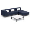 This item: Koral Carbon and Spectrum Indigo Patio Sectional Set and Table with Cushion, 5-Piece