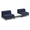 This item: Koral Carbon and Spectrum Indigo Patio Modular Sofa and Table Set, 3-Piece