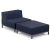 This item: Koral Carbon and Spectrum Indigo Patio Modular Side Seat and Ottoman, 2-Piece