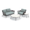 This item: Nette Carbon and Seafoam Outdoor Loveseat and Table Set, 4-Piece