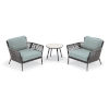 This item: Nette Carbon and Seafoam Outdoor Club Chair and Table Set, 3-Piece
