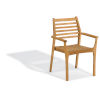 This item: Mera Natural Patio Stacking Arm Chair, Set of 2