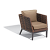 This item: Salino Resin Wicker Sable Woven Club Chair with Truffle Nauticau Cushions