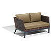 This item: Salino Resin Wicker Sable Woven Loveseat with Toast Cushions