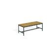 This item: Travira Natural Tekwood Seat and Carbon Powder Coated Aluminum Frame Backless Bench