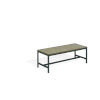 This item: Travira Vintage Tekwood Seat and Carbon Powder Coated Aluminum Frame Backless Bench