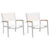 This item: Travira Natural Sling Side Chair with Natural Tekwood Armcaps, Set of 2