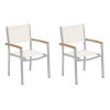 This item: Travira Natural Sling Armchair with Natural Tekwood Armcaps, Set of Two