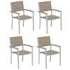 This item: Travira Vintage Tekwood Armchair, Set of Four