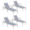 This item: Travira Slate Sling Chaise Lounge - Set of 4