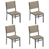 This item: Travira Vintage Tekwood Seat and Chalk Powder Coated Aluminum Frame Side Chair , Set of Four