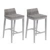This item: Argento Bar Stool - Argento Resin Wicker - Powder Coated Aluminum Legs - Set of 2