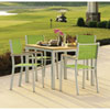 This item: Travira Natural Tekwood 5 Piece Dining Set with Go Green Sling Seats