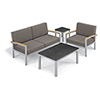 This item: Travira Stone Grey 4-Piece Seat and Table Chat Set