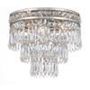 This item: Inverness Olde Silver Three Light Clear Crystal Flush Mount