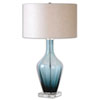 This item: Aura Blue Glass Table Lamp