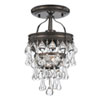 This item: Hopewell Bronze One-Light Semi-Flush Mount with Clear Crystal