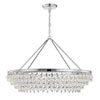 This item: Hopewell Polished Chrome 40-Inch Eight-Light Chandelier with Clear Crystal