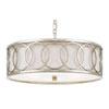This item: Mulberry Antique Silver Six-Light Drum Pendant