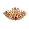 This item: Rosemary Antique Gold Four-Light Flush Mount