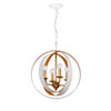 This item: Raglan Matte White and Gold Four-Light Chandelier