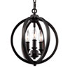 This item: Monticello Rubbed Bronze 11-Inch Three-Light Chandelier