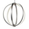 This item: Luminarian Satin Nickel 20-Inch LED Globe Pendant