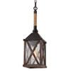 This item: Ednor Oak and Rubbed Bronze One-Light Mini-Pendant