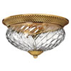 This item: Fleur Brass Three-Light Flush Mount
