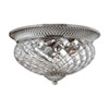 This item: Fleur Polished Antique Nickel Three-Light Flush Mount