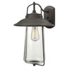 This item: Westport Rubbed Bronze 19-Inch One-Light Outdoor Wall Mount