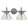 This item: Irving Antique Nickel Two-Light Vanity