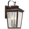 This item: Chamberlain Bronze Three-Light Outdoor Wall Mount