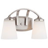 This item: Everly Brushed Nickel Two-Light Vanity