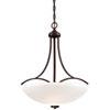 This item: Everly Bronze Three-Light Bowl Pendant