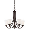 This item: Everly Bronze Five-Light Chandelier